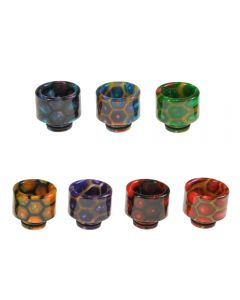 Armerah Honeycomb 510 Drip Tip eCig Mouthpiece Short/Wide Epoxy Resin Available Colours