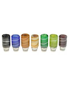 Armerah Swirl 510 Drip Tip eCig Mouthpiece Short/Big Jade/Stainless-Steel Available Colours