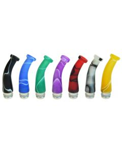 Armerah Spout 510 Drip Tip e-cig Mouthpiece Long/Narrow/Acrylic/Steel/Marble Available Colours
