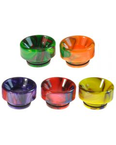 Armerah Basin LP 810 Drip Tip eCig Mouthpiece Shallow/Wide Epoxy Resin Available Colours