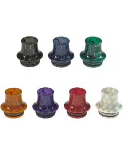 Armerah Cone 810 Drip Tip eCig Mouthpiece Short/Big Snakeskin Epoxy Resin Available Colours