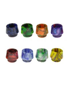 Armerah Marbled Cone 810 Drip Tip Smok TFV8/TFV12 Tanks Short/Wide Epoxy Resin Available Colours