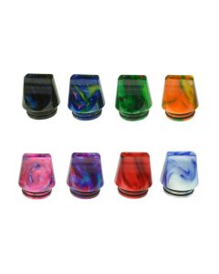 Armerah Marbled Flat 810 Drip Tip eCig Mouthpiece Short/Medium Epoxy Resin Available Colours Front View
