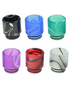 Armerah Marbled Regular 810 Drip Tip eCig Mouthpiece Short/Wide Acrylic Plastic Available Colours