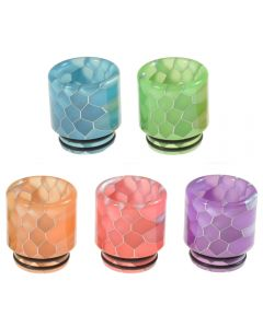 Armerah Snakeskin Glow 810 Drip Tip eCig Mouthpiece Short/Wide Luminous Resin Available Colours