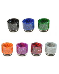 Armerah Snakeskin 810 Drip Tip eCig Mouthpiece Short/Wide Resin/Steel - Available Colours