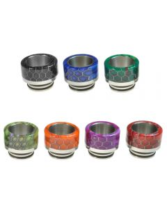 Armerah Snakeskin Taper 810 Drip Tip eCig Mouthpiece Short/Wide Resin/Steel Available Colours